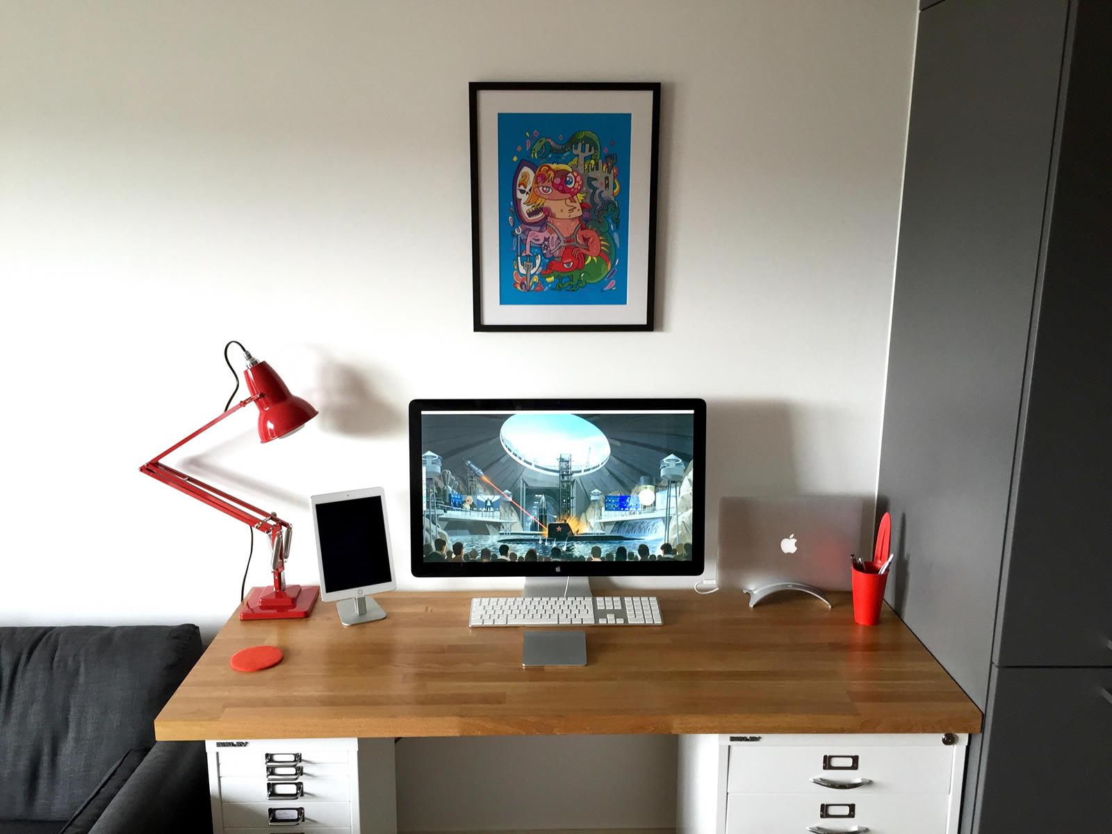 Home Office Desk Set up